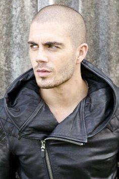 Resultado de imagen para shaved head leather men
