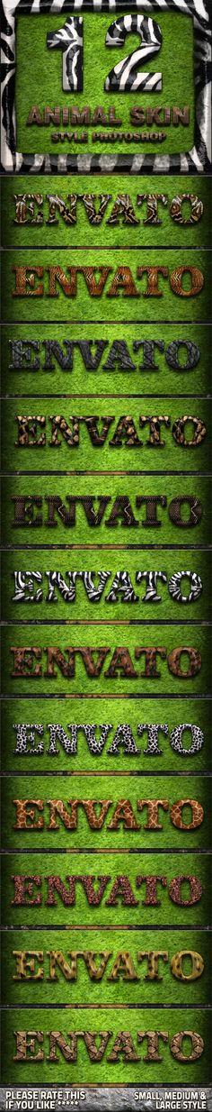12 Animal Skin - Text Effects Actions  asl, bundle, desert, effect, elegant, flares, flyer, font, games, golden, light, metal, metal bundle, mockup, object, pattern, photoshop, polished, poster, present, realistic, styles, text, text effect, texture