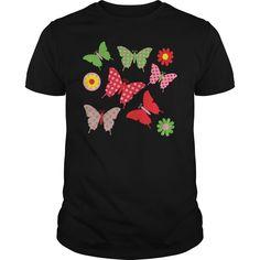 butterfly garden polka dot tee Kids Shirts - Kids Premium T-Shirt