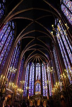Stained Glass in Sainte Chapelle Church