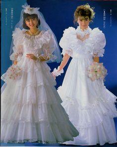 Wedding dresses Fluffy Wedding Dress, Couple Wedding Dress, Classic Wedding Dress, Wedding Dress Sleeves, Dream Wedding Dresses, Beautiful Bridal Dresses, Gorgeous Wedding Dress, 1980s Dresses, Vintage Bridal
