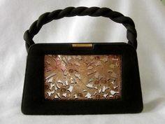 Antique Frederic Boucheron, (1830-1902) Paris Silver Gold And Ruby Handbag  (5,500.00)