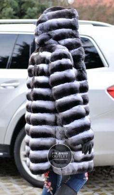 CHINCHILLA FURS - 2015 lafuria real royal chinchilla fur coat - furs outlet