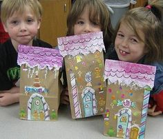 gingerbread houses for the kids to make. Give them stickers & glitter glue ect.