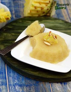 This exciting Pineapple Sheera sends your taste buds into a tizzy with its tangy flavour and rich consistency, while still being very easy to prepare and ready to be served within minutes!