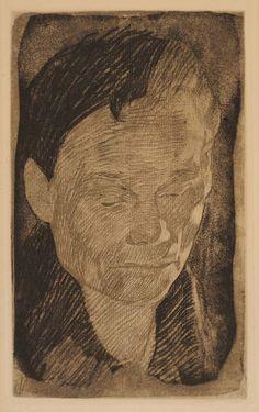 Head of a Woman  Etching; Käthe Kollwitz  1905
