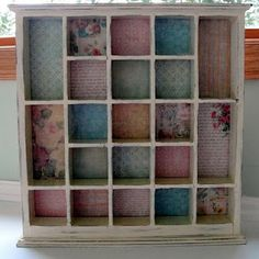 DIY Shadow Box Tutorial. This one is #shabby. I like.