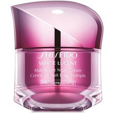 Shiseido White Lucent MultiBright Night Cream, 1.7 oz ($90) ❤ liked on Polyvore featuring beauty products, skincare, face care, face moisturizers, makeup, no color, shiseido and face moisturizer