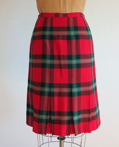 Plaid Wool Pencil Skirt October 2017