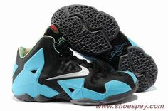 f318da6205f Buy 616175-700 Nike LeBron 11 Black Moon Silver Shoes South Beach Custom -  2013