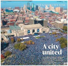 Thanks to the Kansas City Royals for a World Series win and for uniting the entire community. If you've ever wondered why Kansas City is one of the countries best kept secrets, now you know.