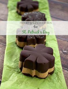 Healthy Chocolate Desserts: St. Patrick's Day Shamrocks