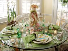 Sweet Easter tablescape!