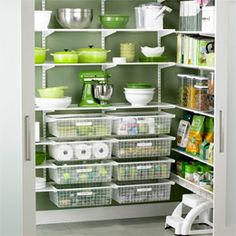 White elfa Walk-In Pantry