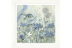 Powder Blue Flowers II - Oswaldtwistle Mills