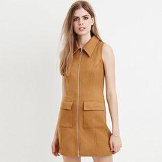 HDY Haoduoyi Solid Color Women Mini Dresses Sleeveless Turn-down Collar High Waist A-line Dress Women Pockets Slim Casual Dress