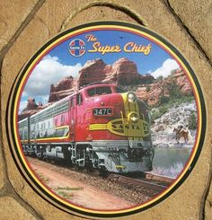 Santa Fe Railroad Gift Kansas City Chief Beverage Coaster