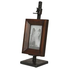 metal easel frames bernards picture frame vanity and bench in cherry wayfair