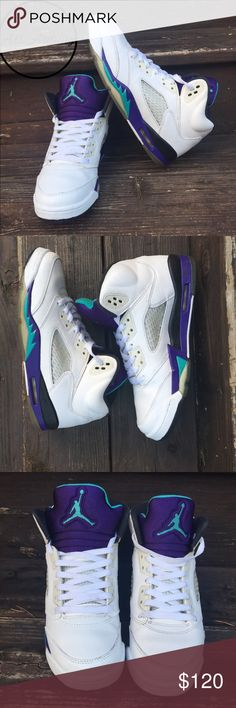 32ad1e3cede Grape Jordan 5s Amazing condition