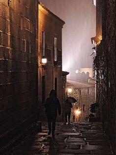 Llueve como no es habitual en Cáceres (Spain)