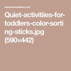 Quiet-activitiies-for-toddlers-color-sorting-sticks.jpg (590×442)