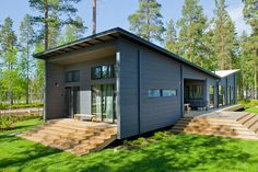 Photo 1 of 12 in 12 Scandinavian Prefabs That Embody High-Design Hygge from These 8 Log Cabin Kit Homes Celebrate Nordic Minimalism - Dwell