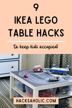 Lego can get out of control sometimes. These awesome Ikea Lego table hacks help you get some control back. Make Lego building more fun and easy with these Ikea Lego table hacks. #ikealegotablehacks #ikeahack #ikealegohacks Lego Table Ikea, Lego Table With Storage, Ikea Furniture Hacks, Ikea Hacks, Best Ikea, Kallax, Malm, Cool Lego, Lego Building
