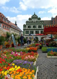 visitheworld:  The Town House in Weimar's Market Square, Germany by Tuatha