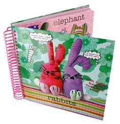 Rabbit Book Rabbit Book, Fabric Animals, Recycled Fabric, Recycling, Coin Purse, Elephant, Character, Elephants, Upcycle