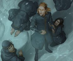 Annatar during drowning of Numenor by http://gerwell.deviantart.com/ More: http://gerwell.tumblr.com/tagged/Tolkien