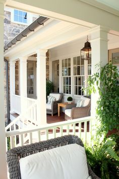 southern living idea house back porches