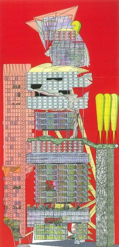Medina Circle Tower, Tel Aviv by Peter Cook, from his book Drawing: The Motive Force of Architecture