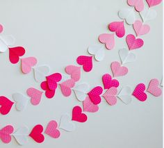 50 off  Heart Paper Garland  Heart Garland in by tissueandtwine