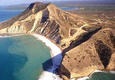 El Morro beach, vista aérea,  Montecristi.