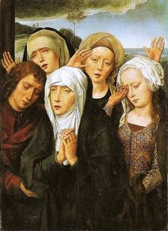 Hans Memling: Flemish school (Seligenstadt, active by 1465 - 1494 Bruges) - The Mourning Virgin