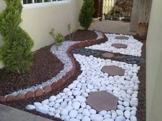 Resultado de imagem para jardines con piedras de rio #jardinesconpiedras #Jardinzen