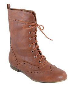 Take a look at this Tan Robbin Boot on zulily today!