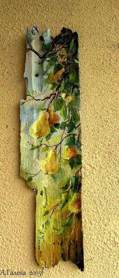Clown Paintings, Barn Wood Crafts, Tole Painting Patterns, Reclaimed Wood Art, Encaustic Art, Pallet Art, Driftwood Art, Recycled Art, Painting Techniques