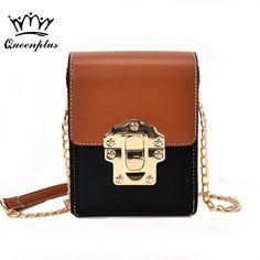 Orginal Design 2017 small square package fashion handbag contrast color pattern panelled shoulder bag Messenger bag female tide #Affiliate