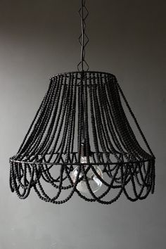 Beaded Ceiling Light- would be so easy to make!