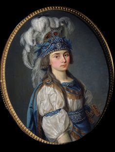 "The portrait of serf soprano Praskoveya Kovaliova ""The Pearl"" that belonged to count Nikolay Sheremetyev, the 18th century. Catherine II who did not loved music, was impressed by her talent and gave her a diamond ring from her finger. Soon after Nikolay released the girl but married her only 10 years after. The wedding made a scandal as the Sheremetyevs and the Romanovs were descended from one family. A 19-year old Praskovya wore the gown from the role that impressed Catherine II."