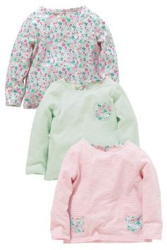 Buy Three Pack Ditsy Pocket T-Shirts from the Next UK online shop Next Clothing Kids, Ditsy, My Little Girl, Next Uk, Graphic Sweatshirt, T Shirt, Hoodies, Sweatshirts, Kids Outfits