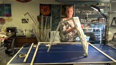 In this video you will learn how to make a PVC pipe frame for mounting your silk to paint it. Special thanks to Karen Sistek (www.karensistekstudio.com). Tha...