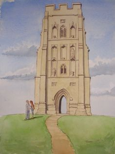 St. Michaels Tower. Glastonbury Tor (St Michael's Church survived until the Dissolution of the Monasteries in 1539 when, except for the tower, it was demolished.