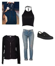 """""""Casual style"""" by amilagarcia12 on Polyvore featuring Yves Saint Laurent, Vans and Velvet by Graham & Spencer"""