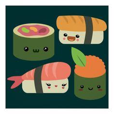 Amigos del sushi poster de Zazzle.com
