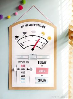 My weather Station - Météo Anglais Mr Printables Mr Printables, Free Printable, Printable Maps, Printable Crafts, Teaching Science, Science Activities, Educational Activities, Science Experiments, Science Classroom