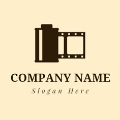 Black and Brown Film logo design Custom Logo Design, Custom Logos, Film Logo, Book Logo, 1 Logo, Online Logo, Logo Maker, Photography Logos, Logo Ideas