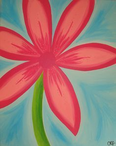 simple flowers to paint - Google Search
