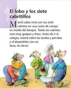 "COSILLAS DE INFANTIL: Cuento: ""Los siete cabritillos y el lobo"" Cooperative Learning, Spanish Lessons, Mini Books, Kids Education, Speech Therapy, Activities For Kids, Fairy Tales, Kindergarten, Homeschool"